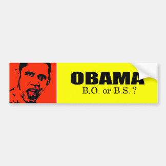 Obama - B.O. or B.S Bumper Stickers