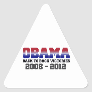 Obama Back-to-Back Victory 2008 - 2012 Stickers