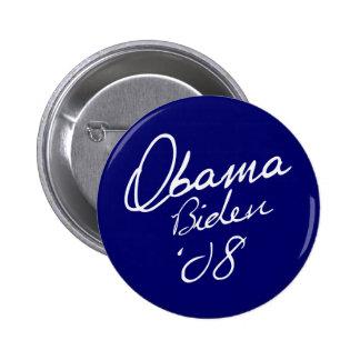OBAMA / BIDEN 08 6 CM ROUND BADGE