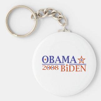 Obama Biden 08 Basic Round Button Key Ring