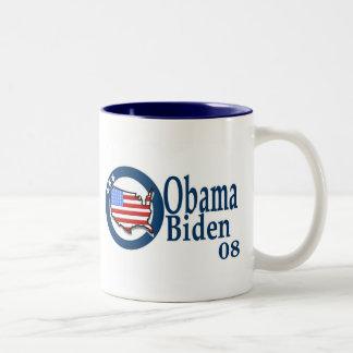 Obama Biden 08 Two-Tone Coffee Mug