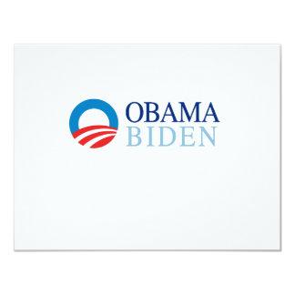 Obama / Biden 11 Cm X 14 Cm Invitation Card