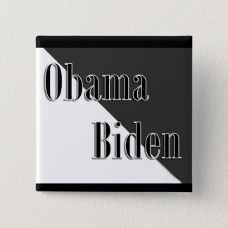 Obama Biden 15 Cm Square Badge