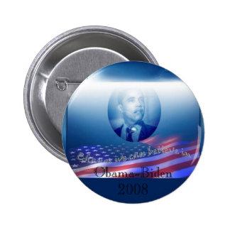 Obama-Biden 2008 6 Cm Round Badge