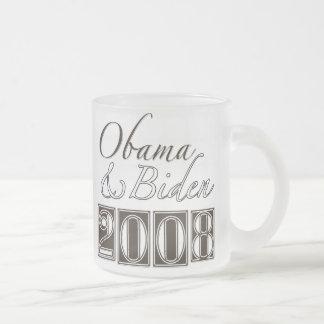 Obama Biden 2008 Frosted Glass Mug