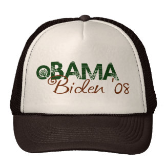 Obama Biden 2008 Green Edition Mesh Hats
