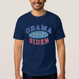 Obama & Biden 2012 Collegiate Election Dark T-Shir Tee Shirts