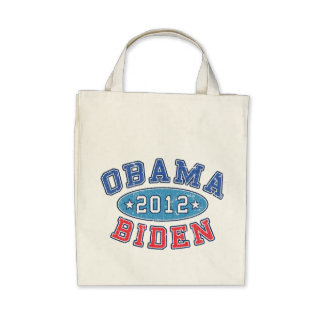Obama & Biden 2012 Collegiate Organic Grocery Bag