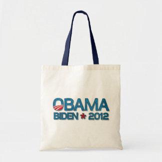 Obama Biden 2012 Dropshadow Blue Tote Bag