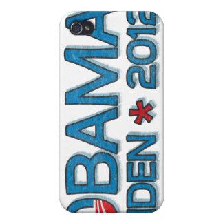 Obama Biden 2012 Dropshadow Blue Case For iPhone 4