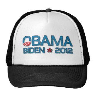 Obama Biden 2012 Dropshadow Blue Mesh Hats