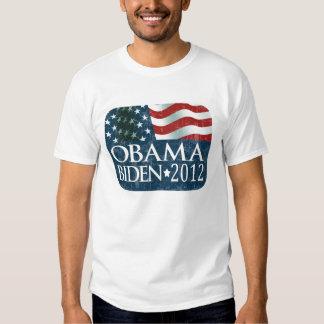 Obama Biden 2012 Election faded T Shirt