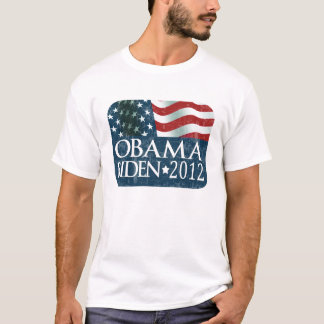 Obama Biden 2012 Election faded T-Shirt