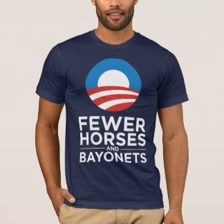 Obama Biden 2012 Fewer Horses and Bayonets T-Shirt