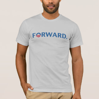 Obama / Biden 2012 Forward Slogan (Blue) T-Shirt