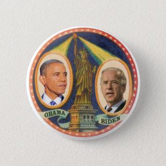 Obama Biden 2012 Lady LIberty 6 Cm Round Badge