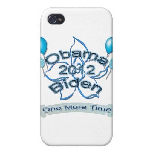 Obama Biden 2012 One More Time blue iPhone 4/4S Case