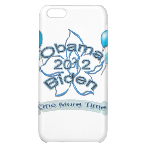 Obama Biden 2012 One More Time blue Case For iPhone 5C