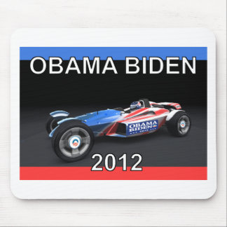 Obama Biden 2012 Racing Car Mouse Pad