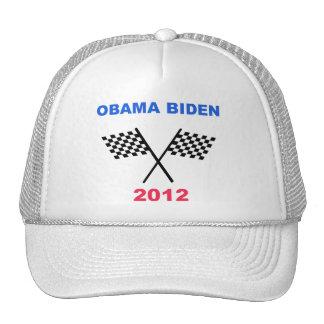 Obama Biden 2012 Racing Flag Winner Trucker Hats