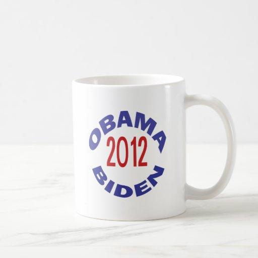 Obama - Biden 2012 Round Coffee Mug