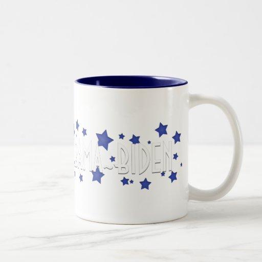 Obama Biden Blue Stars Mug
