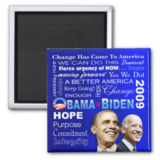 Obama Biden Collage Magnet (blue)