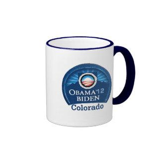 Obama Biden COLORADO Ringer Coffee Mug