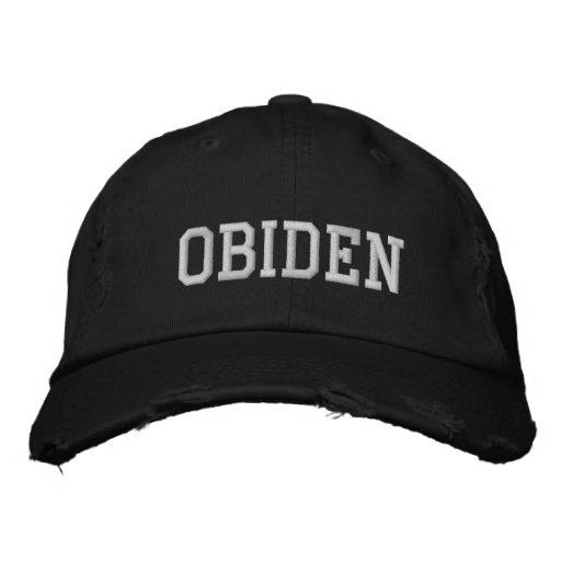 obama + biden embroidered baseball caps