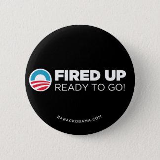 Obama Biden Fired Up, Ready To Go Button (Black)