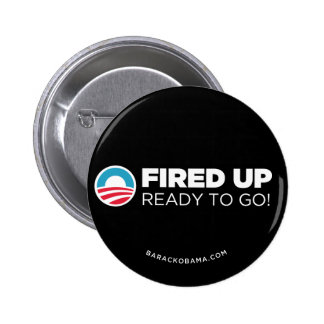 Obama Biden Fired Up, Ready To Go Button (Black)