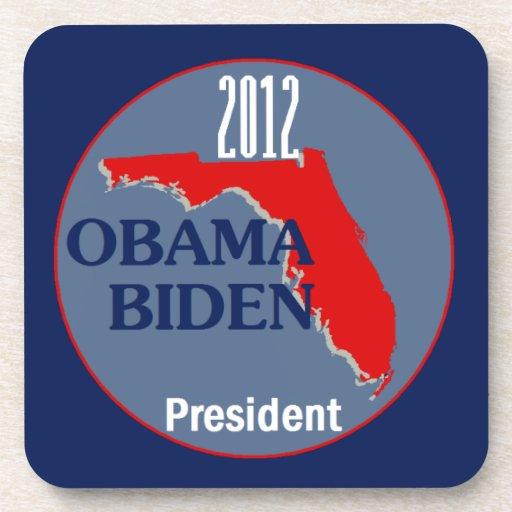 Obama Biden FLORIDA Drink Coasters
