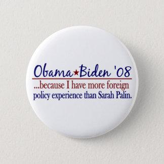 Obama Biden (Foreign Policy Anti-Palin) 6 Cm Round Badge