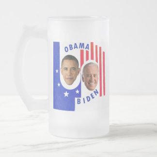 Obama & Biden Frosted Glass Mug