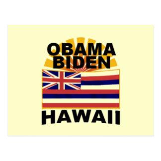 Obama Biden HAWAII Postcard