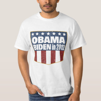 Obama Biden in 2012 faded T-Shirt