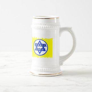 Obama Biden Jewish Stein 18 Oz Beer Stein