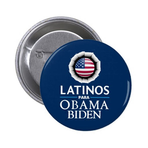 Obama Biden LATINOS Button