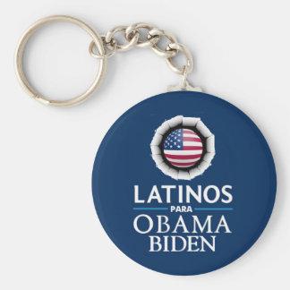 Obama Biden LATINOS Keychain