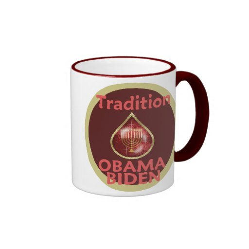 Obama Biden MENORAHJewish Mug