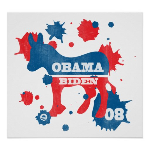 Obama Biden Paint Poster