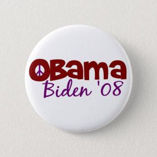 Obama Biden Peace 2008 6 Cm Round Badge