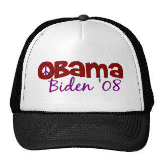 Obama Biden Peace 2008 Cap
