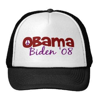 Obama Biden Peace 2008 Trucker Hat