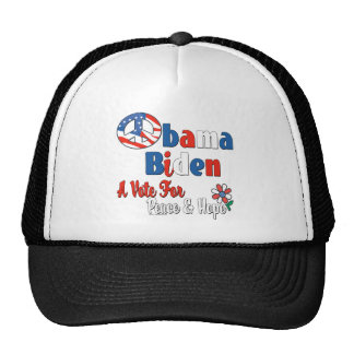 Obama Biden Peace and Hope 2008 Hat