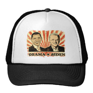 Obama Biden Portraits Trucker Hat