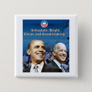 Obama / Biden Square Button