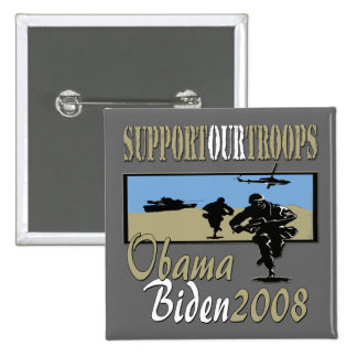 Obama Biden Support Our Troops copy Pinback Buttons