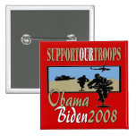 Obama Biden Support Our Troops Pin
