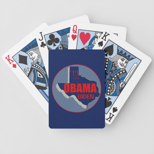 Obama Biden TEXAS Poker Deck